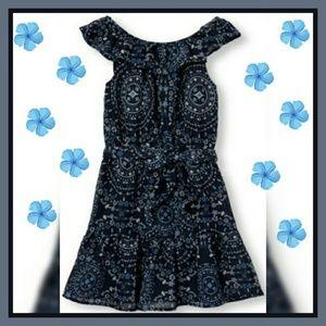 CHILDREN'S PLACE Off-The-Shoulder Printed Dress